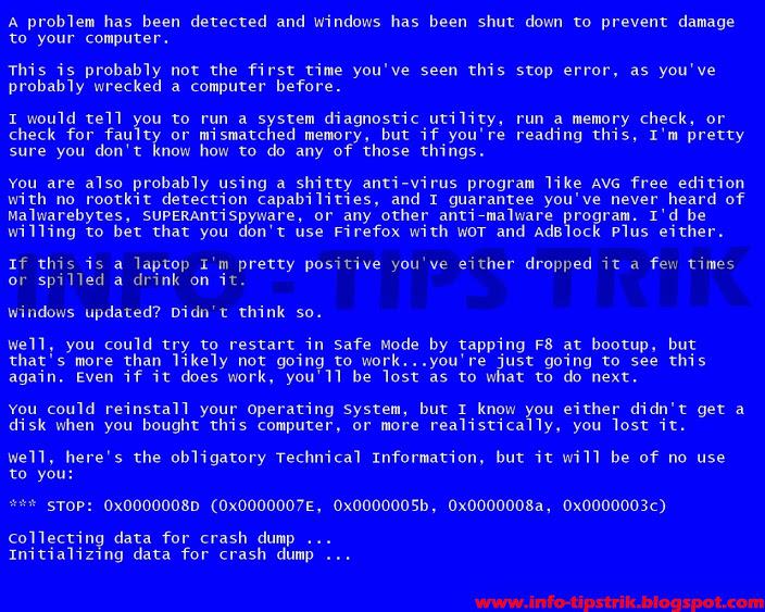 2 Cara Mengatasi Blue Screen Pada Windows 7 Fitradothackers